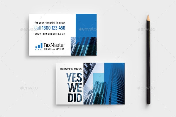 financial business card example