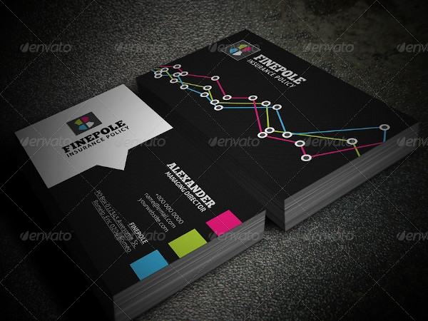 financial business card in vector eps