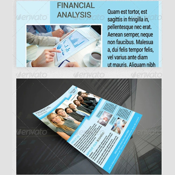 financial business services flyer example