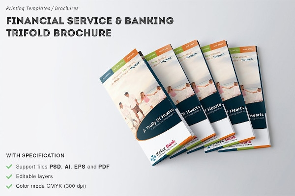 financial service and banking brochure