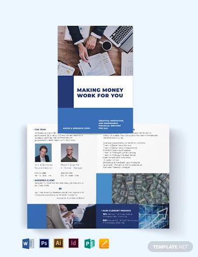 financial services bi fold brochure template