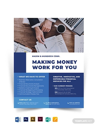 financial services flyer template