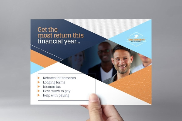 financial services tax flyer