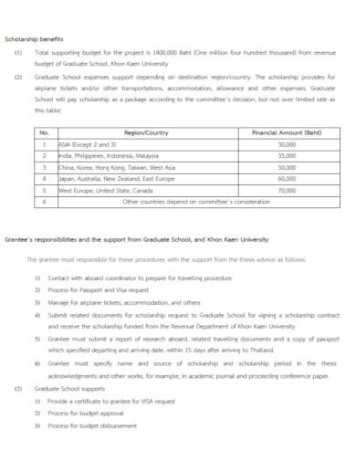 graduate student scholarship budget