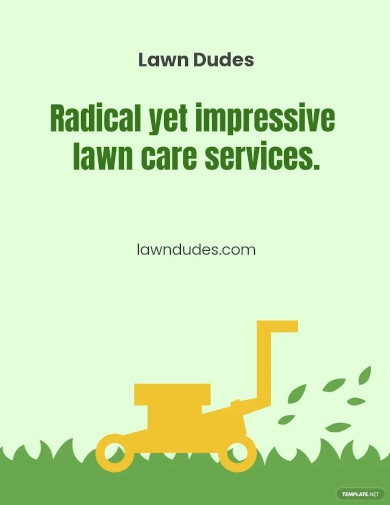 home lawn care flyer template