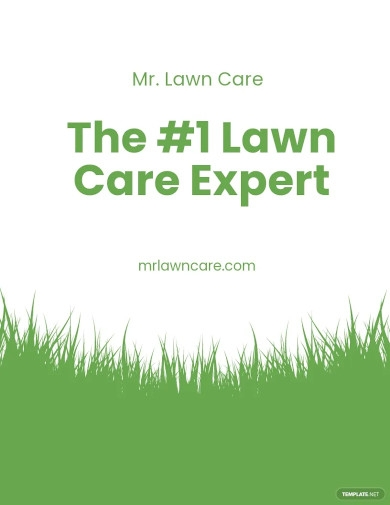 lawn care advertising flyer template