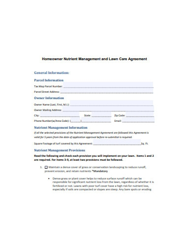 lawn care agreement example
