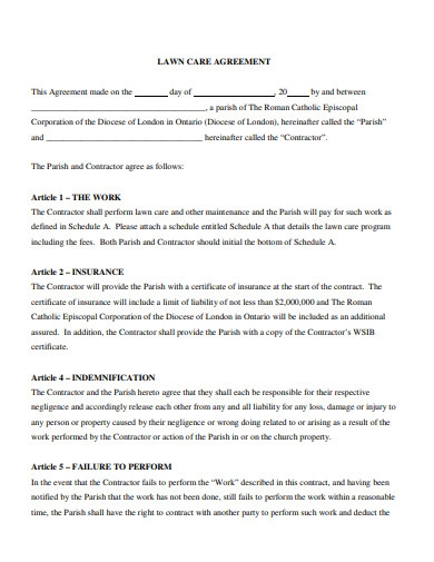 lawn care agreement