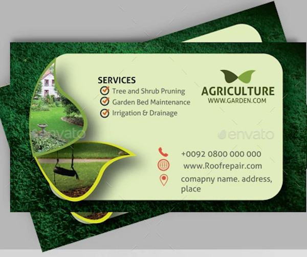 lawn care business card example