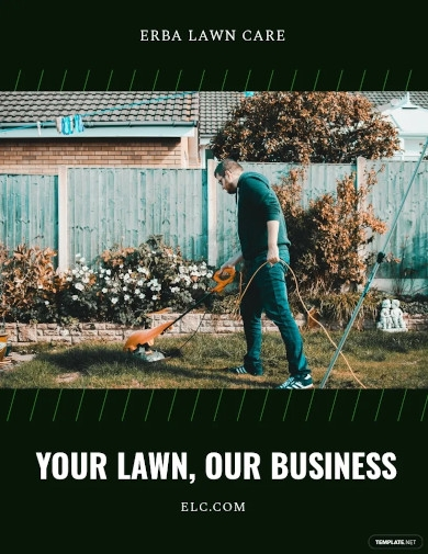 lawn care business flyer template
