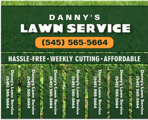 lawn care flyer indesign