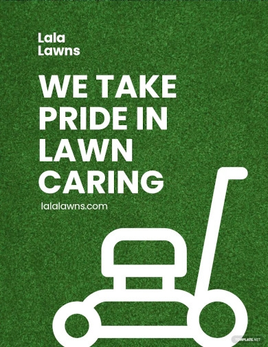 lawn care marketing flyer template