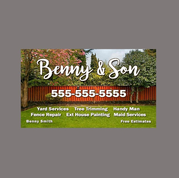 lawn service business card example