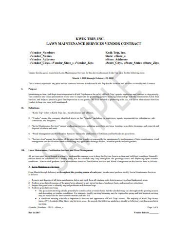 lawn service vendor contract