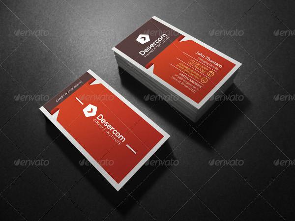 modern financial service business card