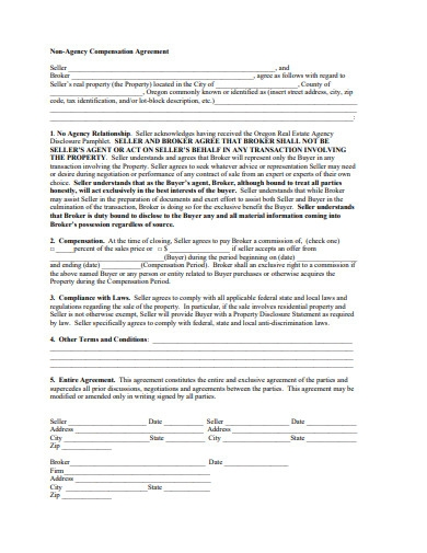 non agency compensation agreement