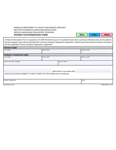 patient authorization form example