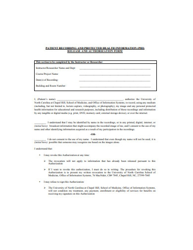 patient authorization release form example