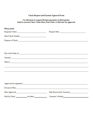 payment approval form example