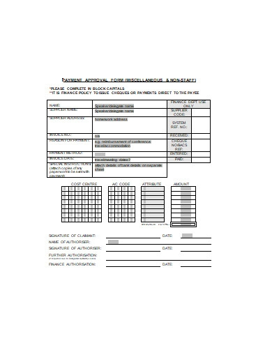 payment approval form in doc