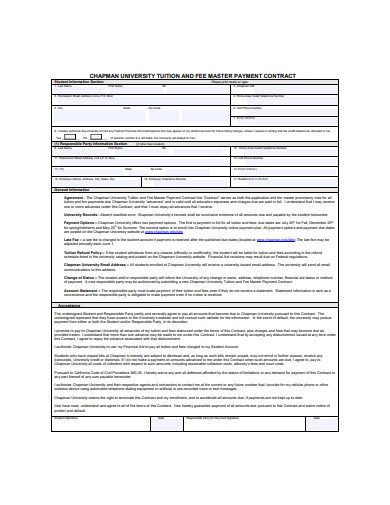 payment contract example