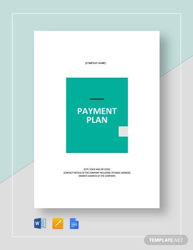 payment plan template