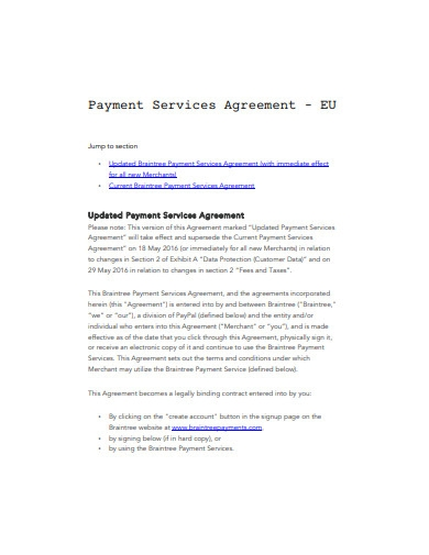 payment services agreement