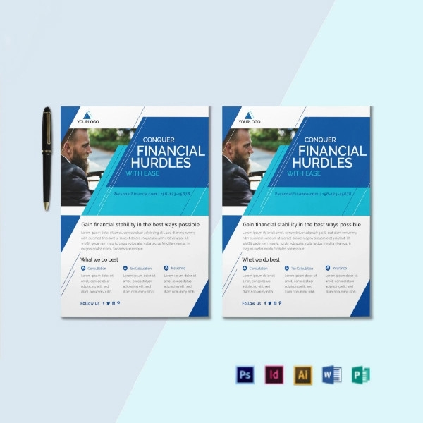 personal financial services flyer template