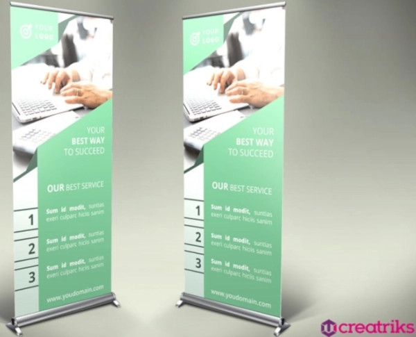 professional financial roll up banner