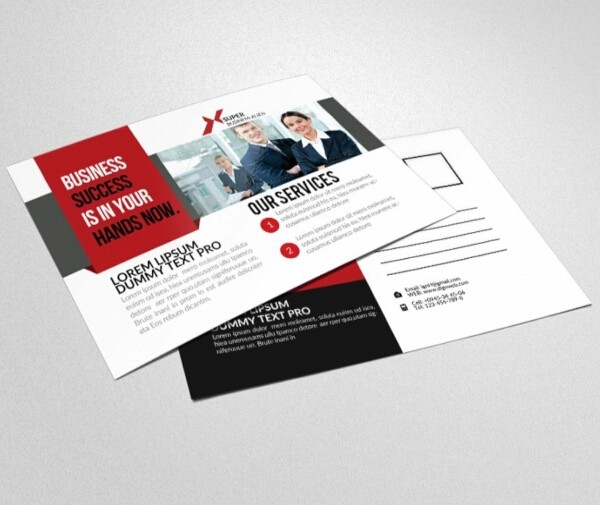 professional financial services postcard