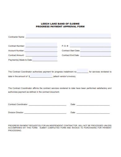 progress payment approval form