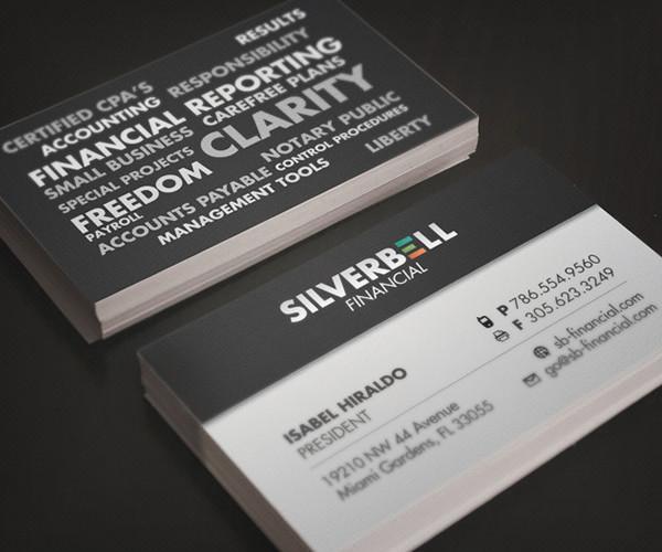 retro financial business card