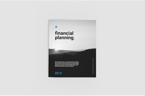 retro financial planning brochure