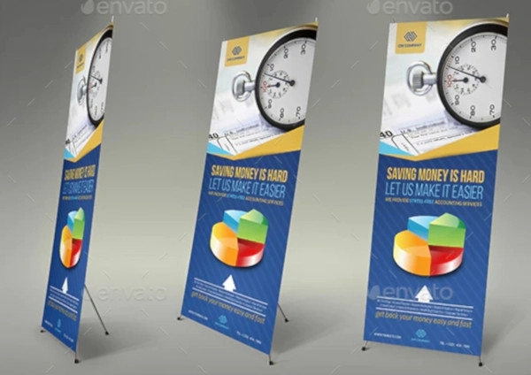 retro financial roll up banner