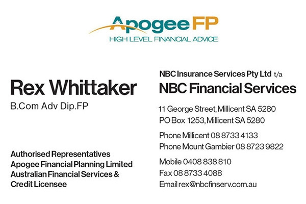 retro financial services business card