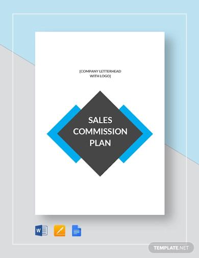sales commission plan template
