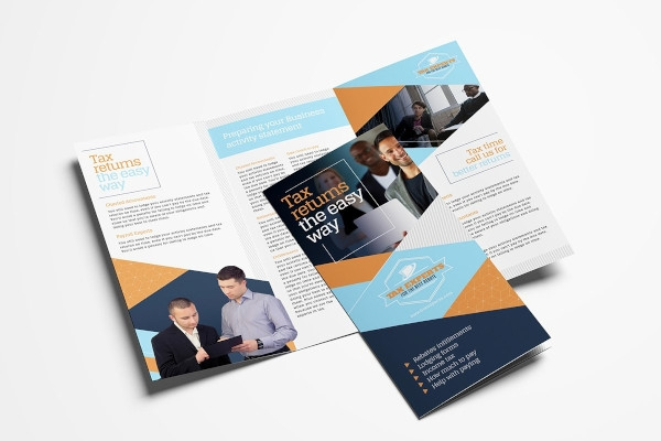 tax service brochure in vector eps
