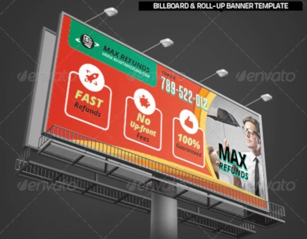 tax service roll up banner indesign