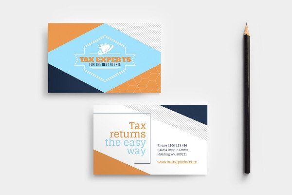 tax services business card example