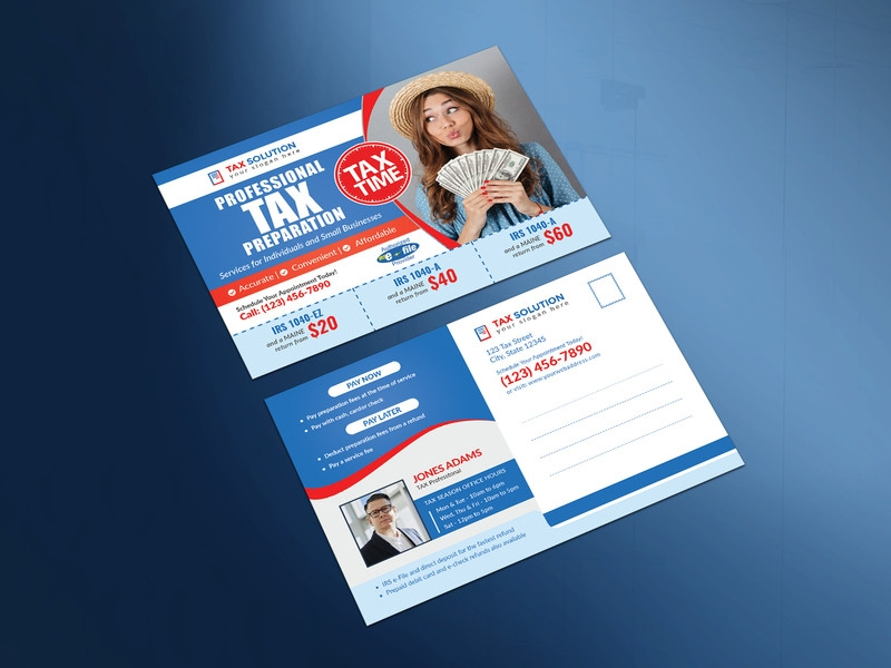 tax services postcard example