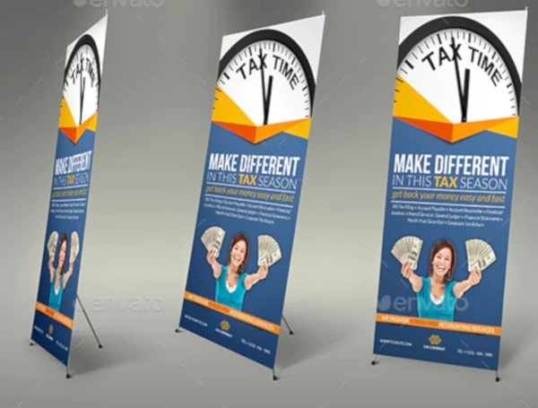 tax and accounting signage roll up banner