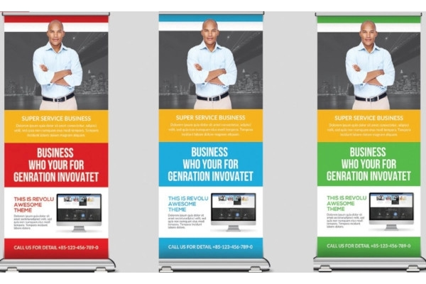 tax and accounting signage roll up banner example