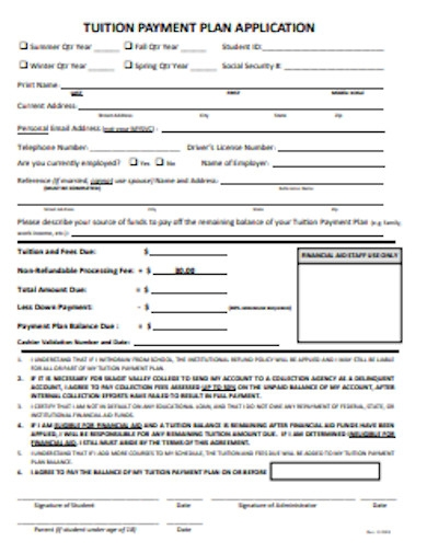 tuition payment plan application