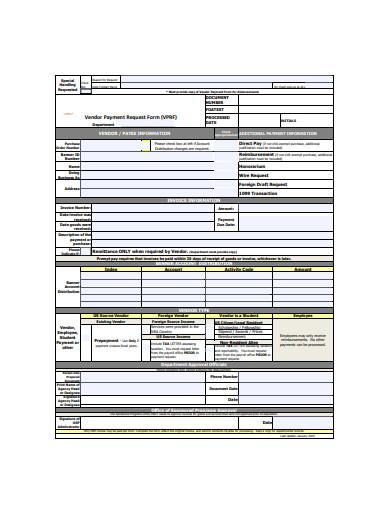 vendor payment request form