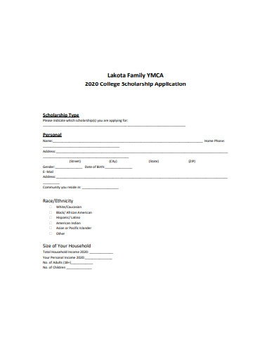 2020 college scholarship application