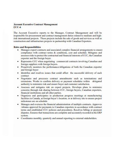 account executive contract