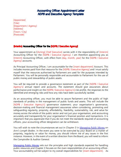 account executive offer letter