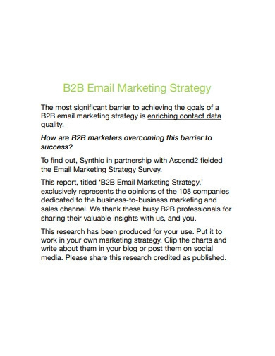 b2b email marketing strategy