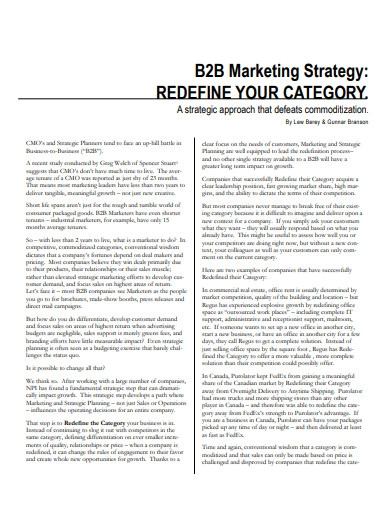 b2b marketing strategy