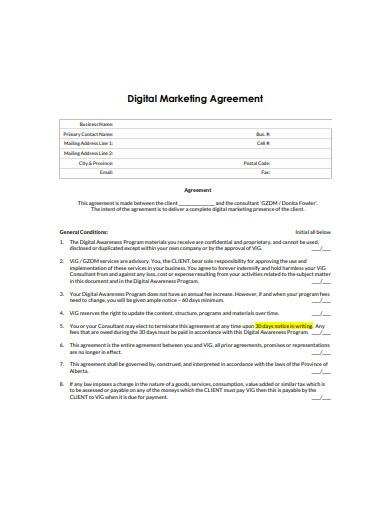 basic digital marketing services agreement